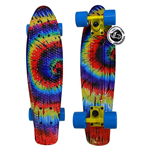 "22"" Fish Skateboard Retro Plastic Cruiser Stereo"