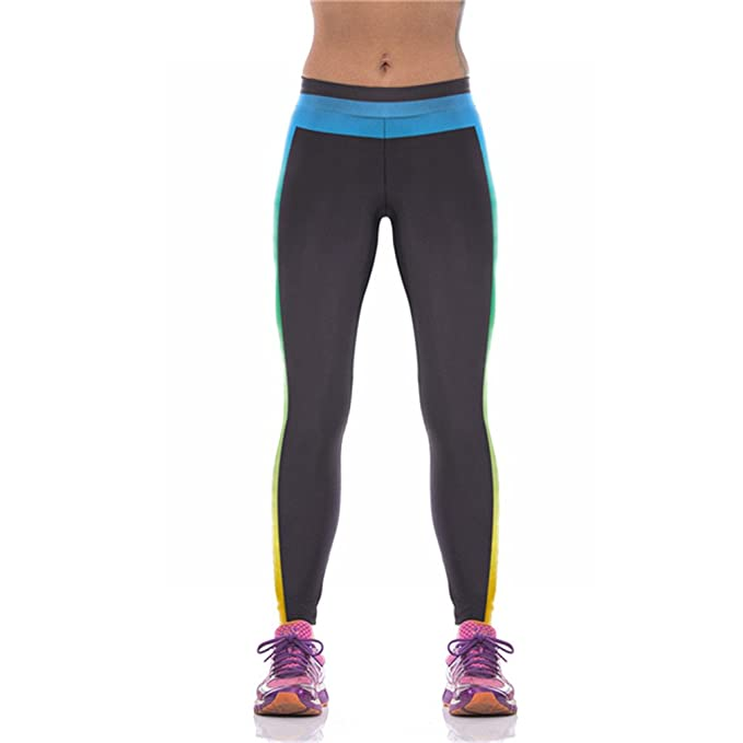 Amazon.com: Fashion Black Gradient 3D Women Leggings ...