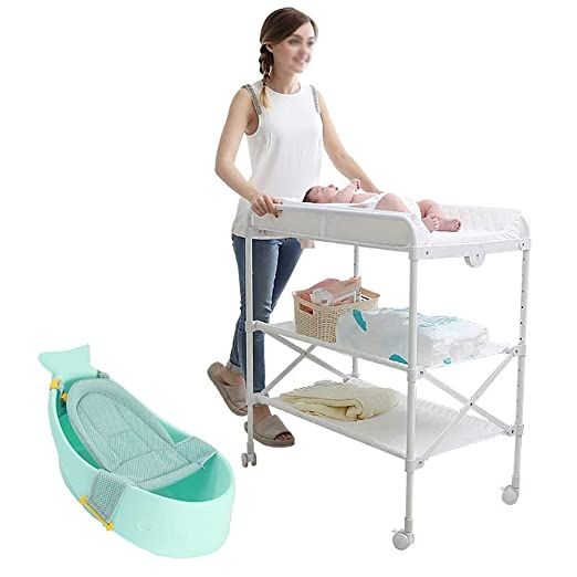 Changing Tables Cambiador de Mesa Plegable con Rueda de Freno ...