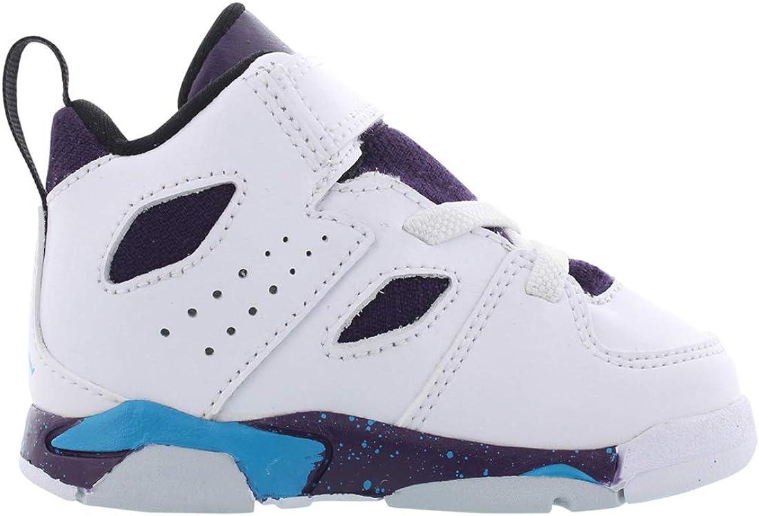 Toddler 555330-105 White//Purple//Blue Nike Jordan Fltclb 91 td Size 9