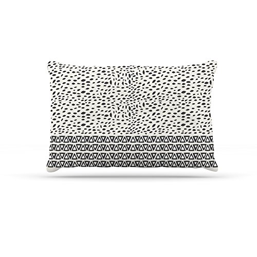 Kess InHouse Pom Graphic Design Wind Day  Fleece Dog Bed, 50 by 60 , White Black