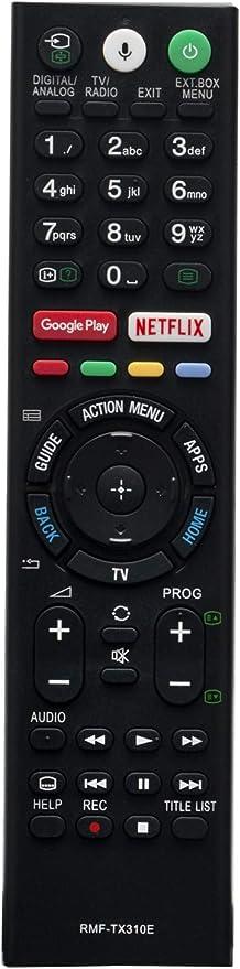 ALLIMITY RMF-TX310E Mando a Distancia reemplazado por Sony Bravia LED LCD TV KD-43XF8096 KD-43XF8505 KD-43XF8577 KD-43XF8588 KD-43XF8596 KD-43XF8599 KD-43XF8796 KD-49XE8004 KD-49XE8005: Amazon.es: Electrónica