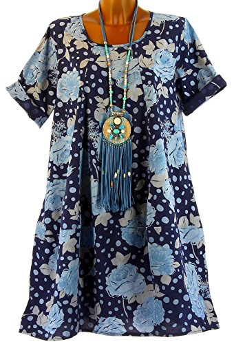 Charleselie94® - Vestido - globo - para mujer Azul