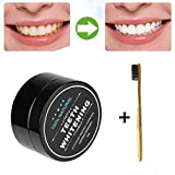 Creazy Teeth Whitening Powder Natural Organic Activated Charcoal Bamboo Toothpaste (f)