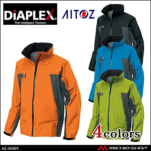 アイトス 作業服 作業着 ディアプレックスジャケット 3層全天候型ジャケット AZ-56301 B07BK2HZ7M L|006ブルー×チャコール 006ブルー×チャコール L