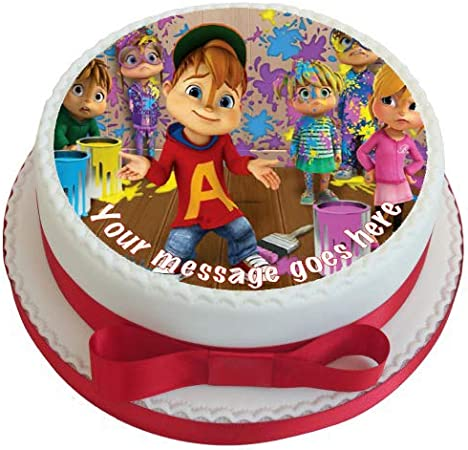 Swell Alvin The Chipmunks 19 Cm Round Fondant Icing Edible Cake Topper Funny Birthday Cards Online Alyptdamsfinfo