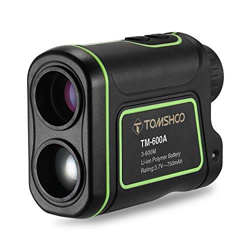 TOMSHOO Golf Rangefinder Rechargeable 7X 24 Waterproof Laser Hunting Range Finder for...