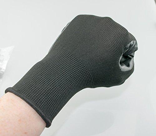 Guantes resistentes al desgaste con recubrimiento de nitrilo, de protección contra cortes, antideslizantes, guantes de trabajo, guantes de protección: ...