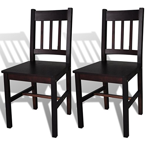 SKB Family 2 pcs Brown Wood Dining Chair Phyfe and Duncan Vintage Set