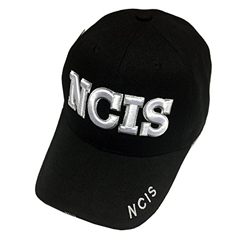 NAVY Gear U.S. Military NCIS Hat - U.S. NAVY NCIS Special Agent Black Baseball Cap Law Enforcement Costume Cap for $<!--$6.99-->