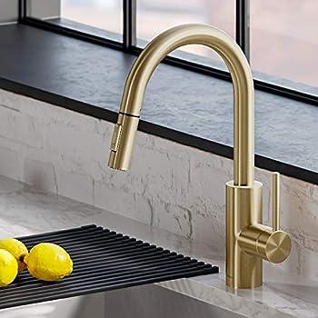 Kraus KPF-2620BB Oletto Kitchen Faucet, Brushed Bronze Finish