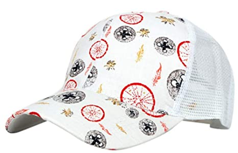 Gorra ajustable mujeres Baseball Hat Flor Hip-Hop pintados a mano ...