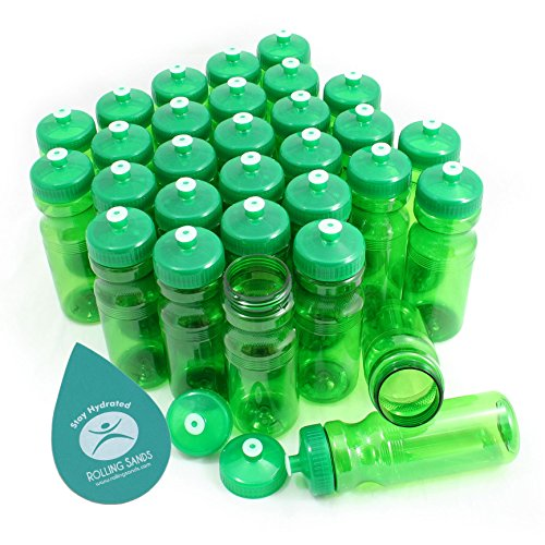 (Rolling Sands BPA-Free 24oz Water Bottle Bulk(30 Pack, Made in)
