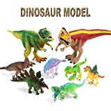 yugioh model kit - Vovomay Environmental Plastic 8pcs Lifelike Dinosaur Model Animals Kid Toy- Paleontologist Approved Model