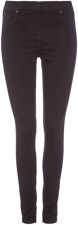 Roman Originals Women Denim Jean Jeggings Ladies Stretch Thick Premium Cotton Trouser Legging Smart Casual Day Long Sculpted High Rise Pull On Elasticated Waist