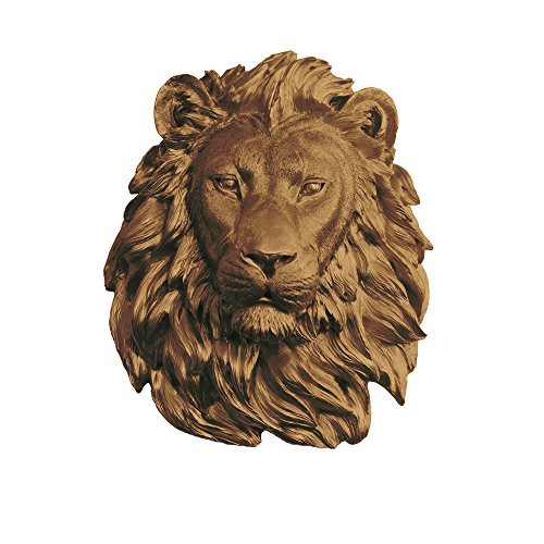 Wall Mount Sculpture - Wall Charmers Large Faux Lion Head | The Saharan Room Decor Wall Art| Hand finished Home Decor, Farmhouse Decor, Bedroom Decor, Bathroom Decor, Office Decor Rustic Wall Decor Rustic Home Decor Accents
