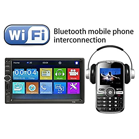 "7018G Radio FM Reproductor Multimedia GPS Navegación 7"" HD Bluetooth MP5 Player"