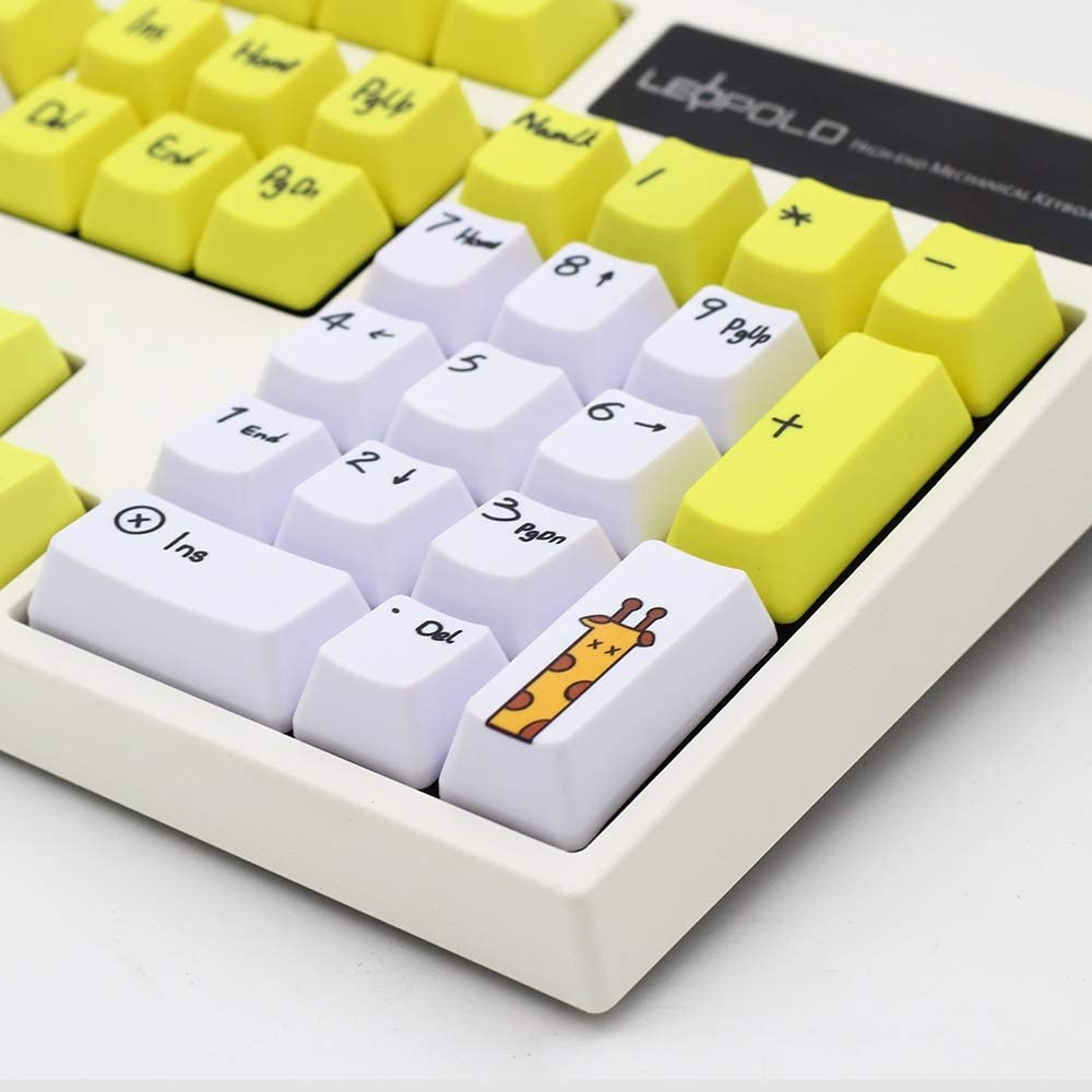 Man-hj Keyboard keycaps Dye Keycap 108 Keys Profile Keycaps for Switches Keyboard Key Cap Color : 108 Keys