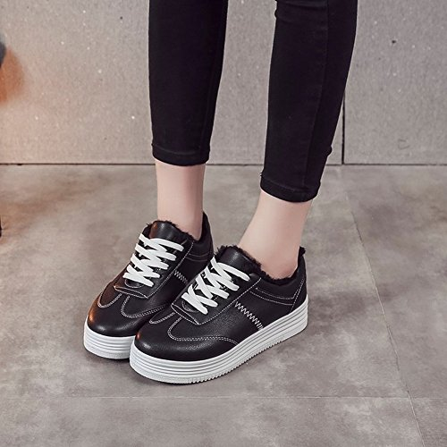Deportivos Zapatos Zapatos Estudiantes 5 Zapatos de de Cachemira Ocio negro EUR de Zapatos Femeninos 35 Mujer Más vqFSU