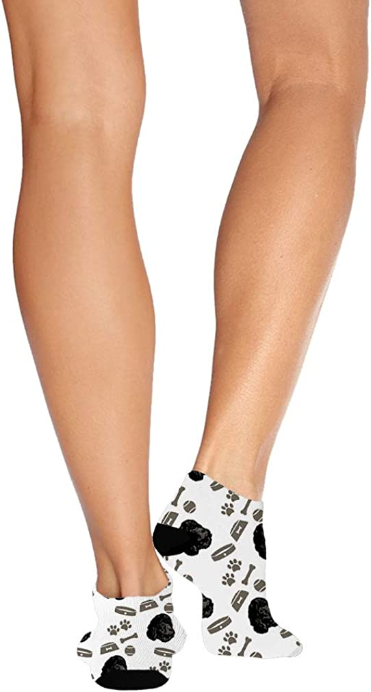 Irish Water Spaniel Dog Pattern #3 Men-Women Adult Ankle Socks Novelty Socks