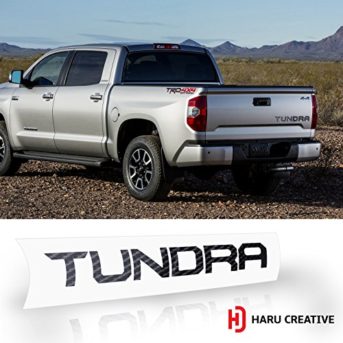 Haru Creative Radio Dashboard Letter Overlay Vinyl Decal Sticker Compatible with and Fits Toyota Tundra 2014-2018 5D Gloss Carbon Fiber Black