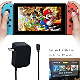 5Ft AC Adapter for Nintendo Switch, Nintendo Switch Fast Charging AC Acapter, Support TV Mode