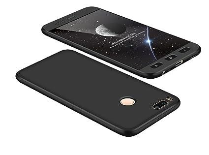 2ndSpring Xiaomi Mi A1 Funda, Funda Xiaomi Mi 5X 360 Grados Integral para Ambas Caras + Cristal Templado, Luxury 3 in 1 PC Hard Skin Carcasa Case ...