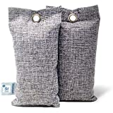Dr. SF Essentials Activated Bamboo Charcoal Gym Deodorizer Bags - Upgraded with Clay Moisture Absorbing Beads