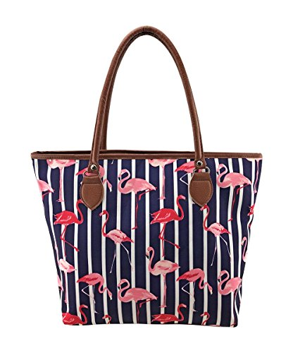 Blue Canvas Beach Pool Star Red Anchor Flamingo LilyRosa Pineapple Stripe Floral Bags Blue Bag Flamingo Holiday Bag Pink gAwnz0qRYx