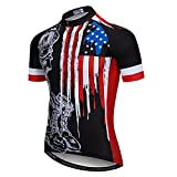 xxl mens cycling jersey - Weimostar Men's USA Cycling Jersey Short Sleeve Biking Shirts Breathable with Pokects Black Size XXXL