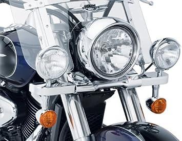 Krator Chrome Motorcycle Passing Light Bar /& Turn Signals For Suzuki Boulevard C109R C50 C90