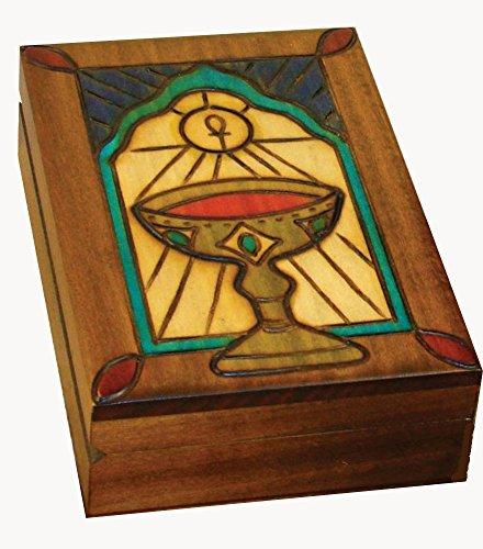 Chalice Box Polish Linden Wood Keepsake Handmade Jewelry Box
