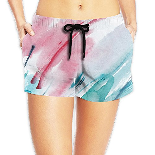 YUnMM Graffiti Color Ink Female Slim Fit Beach Short (Best Canon Color Ink For Tattoos)