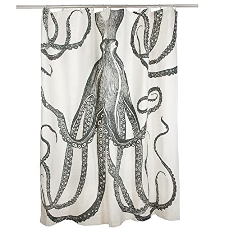 Shower Curtain Octopus Nautical Thomas Paul Charcoal