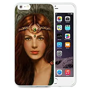 Beautiful And Unique Designed With Girl Princess Red Hair Jewelry Herbs (2) For iPhone 6 Plus 5.5 Inch TPU Phone Case
