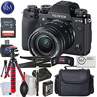 Fujifilm X-T3 Digital Camera with 18-55mm Lens (Black) + 32GB + Essential Photo Bundle