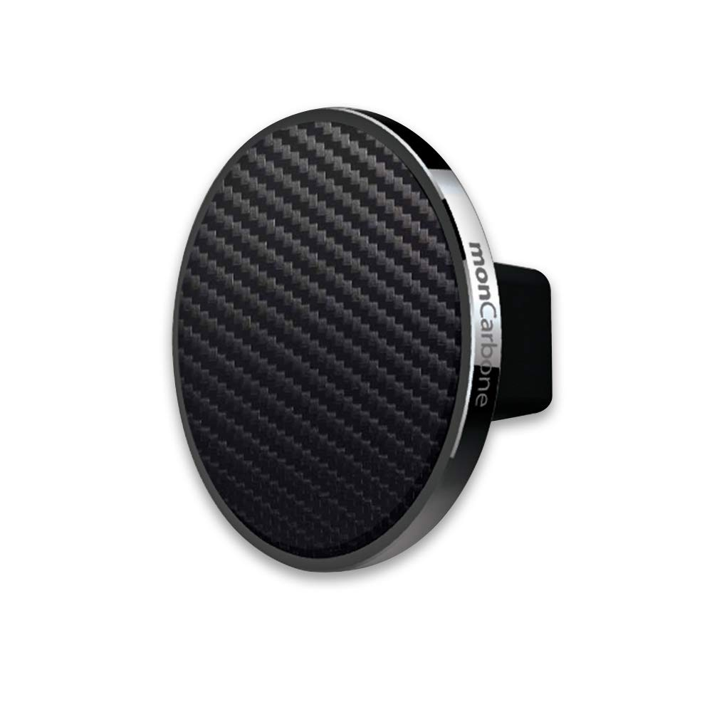 The monCarbone JustClick Carbon Fiber Gunmetal Car Mount travel product recommended by Amelia Widjaja on Lifney.