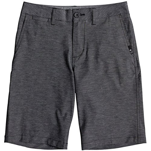 (Quiksilver Boys' Little Union Heather Amphibian Kids Swim Trunks, Black, 3)