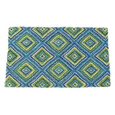 Summer Geometric Hand Woven Coir Doormat