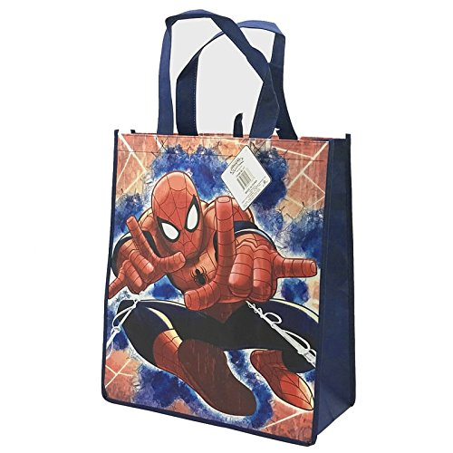 Legacy Licensing Partners - Reusable Tote Bags for Kids, Teens, and Adults! Great for parties, birthdays, field trips, school activities, and so much more! Marvel Category (Large, Spiderman)