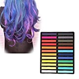 Hair Chalk Set 12/24 Hair Chalk Pens For Girls,Hair Chalk Pen Set Non-Toxic Temporary Washable Hair Dye Colors for Party & Cosplay By Aolvo