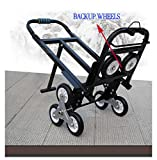 INTBUYING Foldable Folding Stair Climbing Hand Truck Luggage Cart Backup Wheels