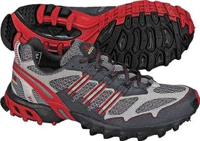 adidas Men's Kanadia Trail Running Shoe,Medium Lead/Real Red/Dark Shale,7 M US