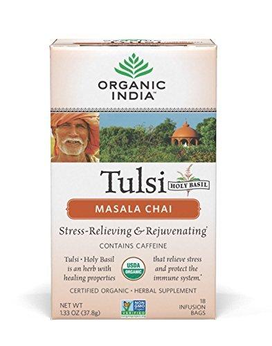 India Masala Chai Tea - Organic India Tulsi Tea Chai Masala, 18 bags