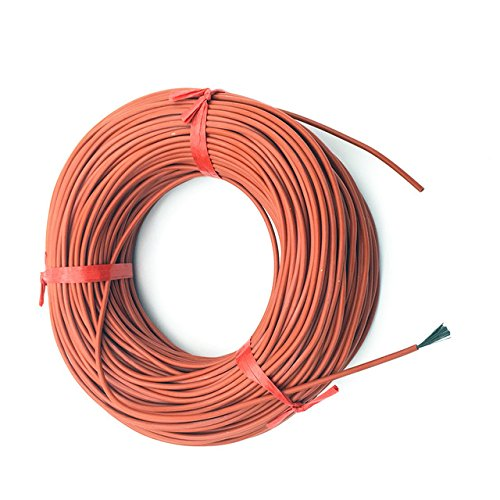 Heating Wire Cable - 1 Piece 10Meter 12K 33ohm/M Infrared Heating Floor Heating Ther Cable System Of 3mm Silica Gel Carbon Fiber Wire Used In 220v Voltage 150w by Unknown
