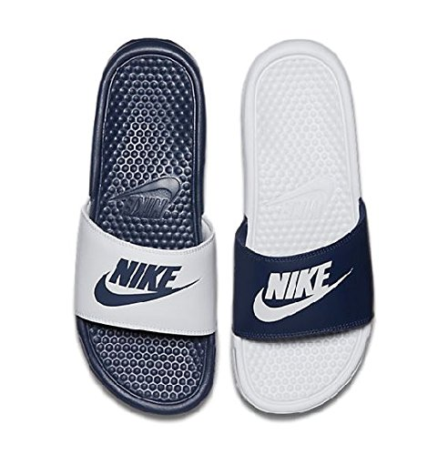 37400d073cfa Nike Mens Benassi JDI Mismatch Slide Sandals Midnight Navy White 9 D(M) US   Amazon.in  Shoes   Handbags