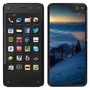EJOY---Cubierta de la caja de protección la piel dura para el / Amazon Fire Phone / --Snowy Mountains