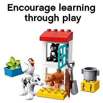 LEGO DUPLO Town Farm Animals 10870 Building Blocks (16 Pieces): Toys & Games