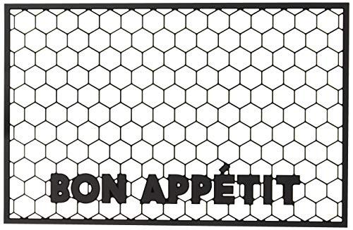 Easy, Tiger Pet Mat, Bon Appetit, Washable Rubber Mat, 11 x 17 ()