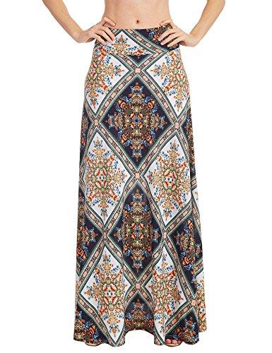 WB1191 Womens Chevron Print Maxi Skirt XXL (Poly Spandex)